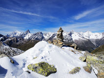 Panorama of French Alps Stock Photo