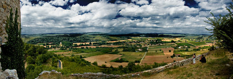 Panorama French landscape Royalty Free Stock Photography