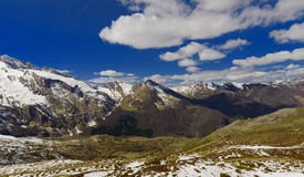 Panorama of the french Pyrenees mountains Royalty Free Stock Photos