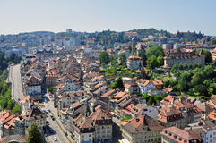 Panorama of Fribourg Stock Images
