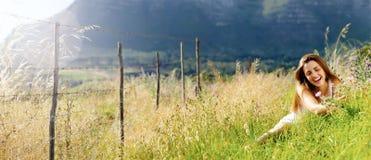 panorama- frihetsflicka royaltyfria foton