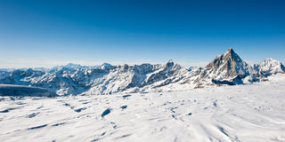 Free Panorama From Glacier At Kl. Matterhorn Stock Photography - 12239112