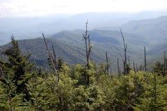 Panorama fumeux de montagnes de dôme de Clingmans photographie stock