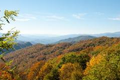 Panorama fumoso II di caduta della montagna Fotografia Stock Libera da Diritti