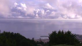 Panorama of Funchal city and Atlantic ocean stock video