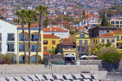 Panorama of Funchal, Madeira stock images