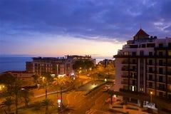 Panorama of Funchal promenade, Madeira Royalty Free Stock Photography
