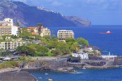 Panorama of Funchal promenade, Madeira Stock Photography