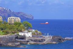 Panorama of Funchal promenade, Madeira Royalty Free Stock Photo