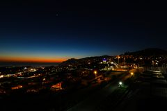 Pico dos Barcelos by Night, Funchal, Madeira Royalty Free Stock Photo