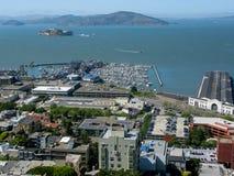 Panorama fuori dalla torre di Coit, San Francisco Fotografia Stock
