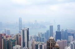 Panorama futurystyczny miasto Hong Kong Obraz Royalty Free