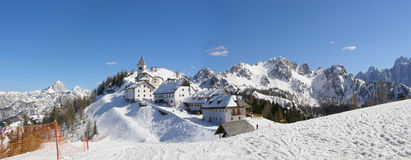 panorama górska wioska Zdjęcia Stock