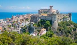 Panorama in Gaeta, provincie van Latina, Lazio, centraal Italië royalty-vrije stock foto