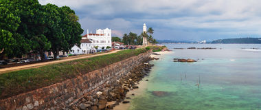Panorama Galle fort, Sri Lanka, Azja Obrazy Stock