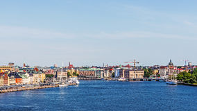 Panorama with Gamla stan Royalty Free Stock Image