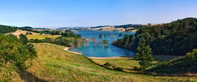 Panorama of Ganguise lake Stock Images