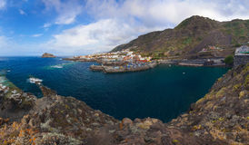 Panorama of Garachico in Tenerife island - Canary Stock Image
