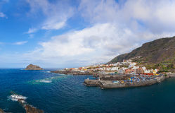 Panorama of Garachico in Tenerife island - Canary Royalty Free Stock Images
