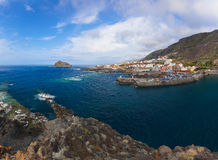 Panorama of Garachico in Tenerife island - Canary Stock Photos