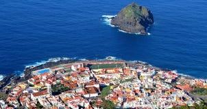 Panorama of Garachico (Tenerife) stock images
