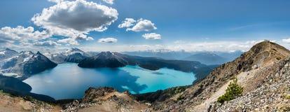 Panorama of Garibaldi lake from Ridge Royalty Free Stock Images