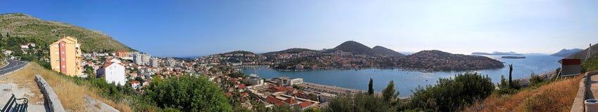 Panorama gauche de Dubrovnik image stock