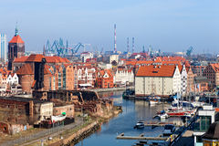 Panorama of Gdansk Royalty Free Stock Photography