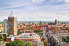 Panorama of Gdansk city centre in summer time Stock Photography