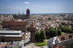 Panorama of Gdansk city in Tricy Royalty Free Stock Image