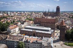 Panorama of Gdansk city in Tricy Stock Photos