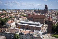 Panorama of Gdansk city in Tricy. Pomerania, Poland Stock Photos