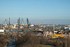 Panorama of Gdansk. Royalty Free Stock Images