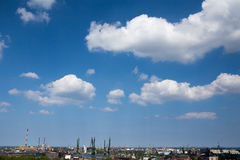 Panorama of Gdansk. Royalty Free Stock Photo