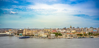 Panorama General view of Old Havana Stock Image