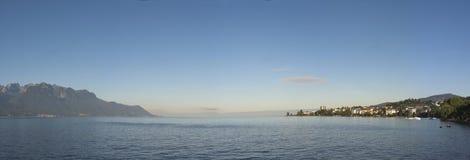 panorama- geneva lake Fotografering för Bildbyråer