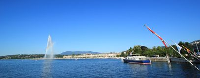 Panorama of Geneva, Switzerland Stock Images