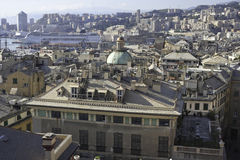 Panorama of Genoa Stock Image