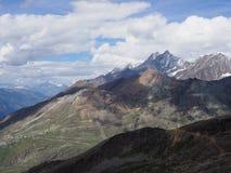Panorama geologico impressionante del paesaggio alpino della gamma di montagne in alpi svizzere alla SVIZZERA Fotografie Stock Libere da Diritti