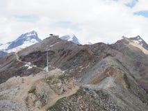 Panorama geologico impressionante del paesaggio alpino della gamma di montagne in alpi svizzere alla SVIZZERA Fotografia Stock Libera da Diritti