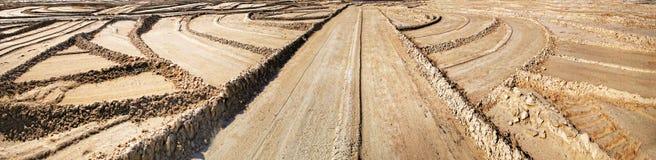 Panorama geometryczne oceny na piasku Obraz Royalty Free