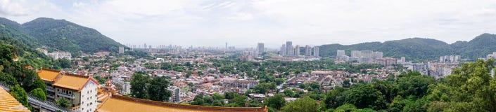 Panorama of Georgetown city on Penang island, Malaysia