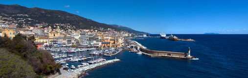 Panorama geral de Bastia - Córsega (França) imagem de stock royalty free