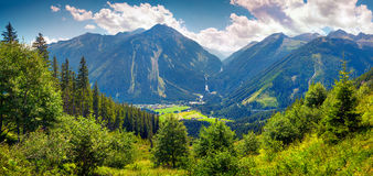 Panorama from Gerlos pass Stock Images