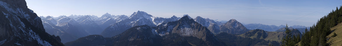 Panorama from German Alps Stock Photo