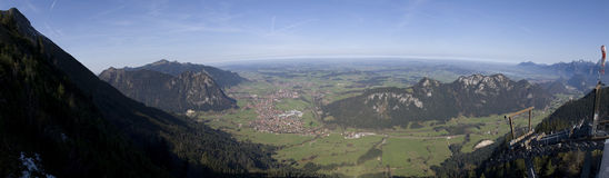 Panorama from German Alps Stock Images