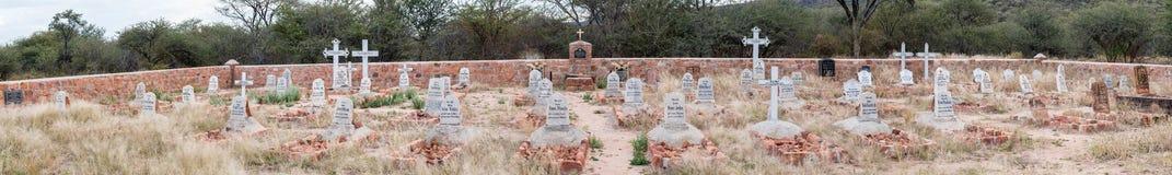 Panorama of German military graveyard in Waterberg Plateau Natio Royalty Free Stock Photography