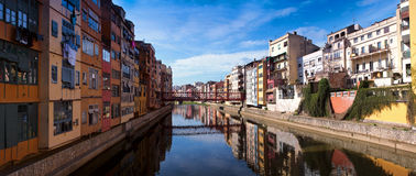 Panorama of gerona Stock Image