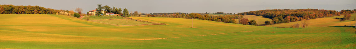 Panorama of Gers countryside  in autumn Stock Photos