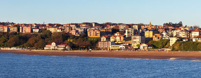 Panorama of Getxo beach Royalty Free Stock Image